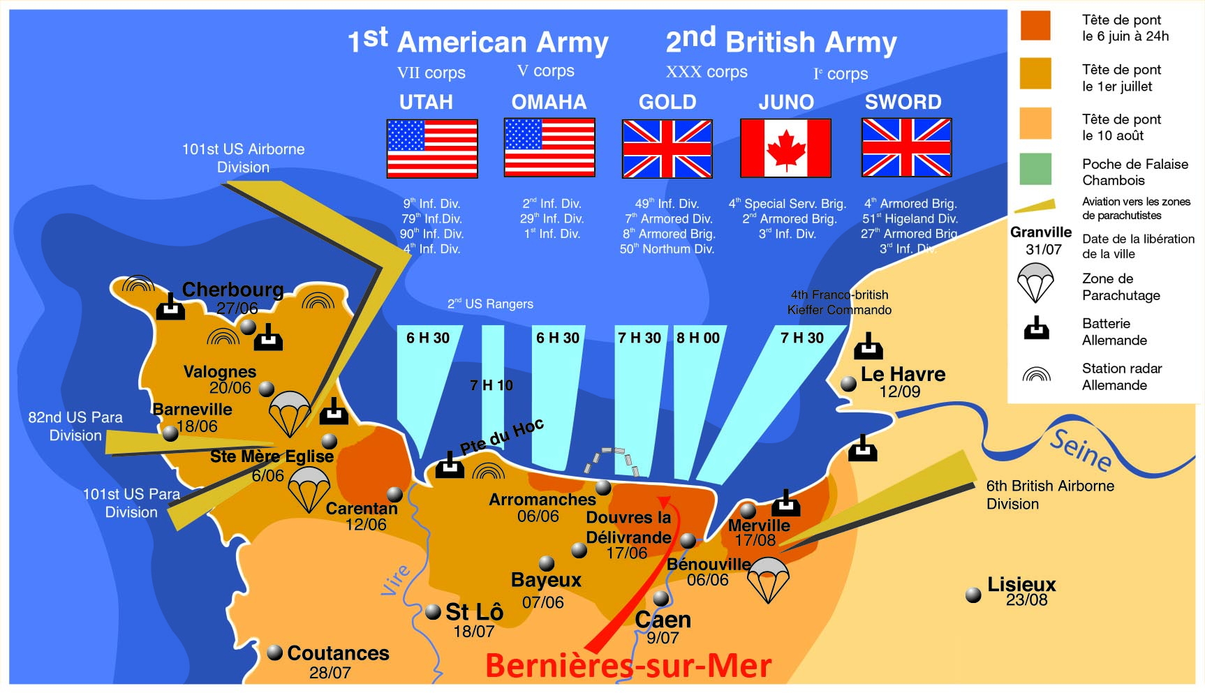 d day beaches map normandy
