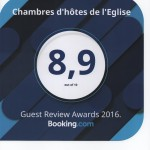 Note chambres- Booking 2016